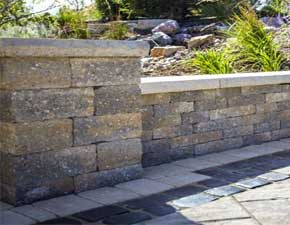 retaining wall and landscaping supplies