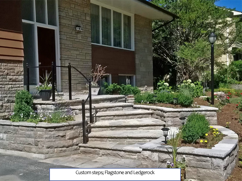 Custom Steps - Flagstone and Ledgerock